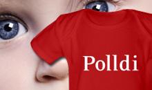 <b> Polldi </b> <br> Das Geschenk für ganz neue Poller: als Strampler, Lätzchen oder Kuscheltier. Auch schön: Babyflasche »Pollmilch.«